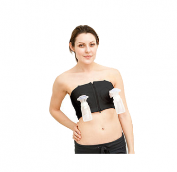 Simple Wishes Hands Free Pumping Bra  (Black)