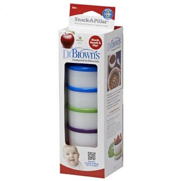 DR Brown's Snack-A-Pillar Snack & Dipping Cups