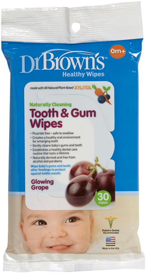 DR Brown's Tooth & Gum Wipes