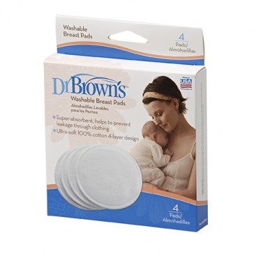 DR Brown's Washable Breast Pads (4-Pack)