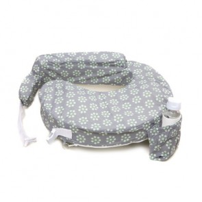 My Brest Friend Original Nursing Pillow - Grey / Sage Dotted Daisies